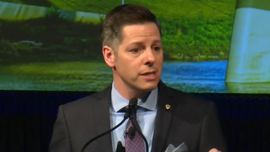 Brian Bowman is pictured giving his annual State of the City speech on March 15, 2019.