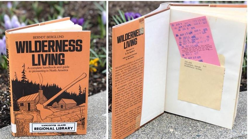 The book was originally borrowed from the Union Bay library branch in 1977. (VIRL Comox Valley Libraries/Facebook)