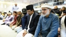Members of Ahmadiyya Muslim Jama`at Canada gather at the Baitul Islam Mosque during a special prayer for the victims of an attack on Muslims at the Al Noor and Linwood Mosques in Christchurch, New Zealand, in Vaughan, Ont., on Friday, March 15, 2019. (THE CANADIAN PRESS / Christopher Katsarov)