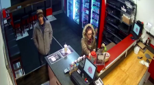 Police are investigating the theft of a tip jar from a Woodstock pizza store.