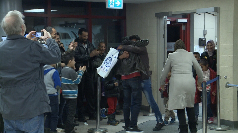 The Al Khlief brothers and their families were reunited at the Fredericton airport on Friday, after being separated for the last three years.