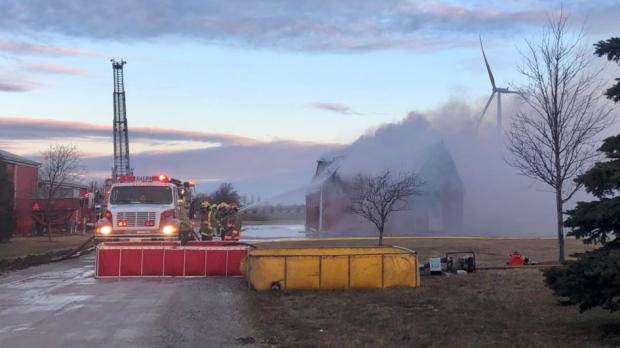 Hornick Line in Tilbury barn fire