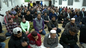 Hundreds were at the Jamia Masjid mosque in Vancouver to stand in solidarity with the New Zealand mosque victims.