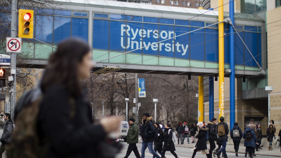 A general view of the Ryerson University campus in Toronto, is seen on Thursday, January 17, 2019. (THE CANADIAN PRESS/Chris Young)