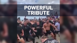 Emotional haka tribute to mosque shooting victims