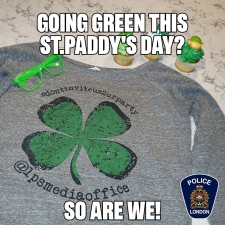 London police Tweet on St. Patrick's Day