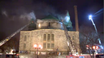 Côté Pierre Vicaire Episcopal church fire