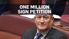 Petition launched to remove far-right senator