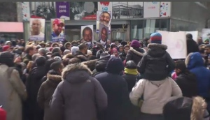 Hundreds gathered in Montreal to mourn the victims of the New Zealand terrorist attack in a mosque earlier this week.