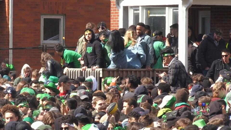 Thousands gathered on Ezra Avenue