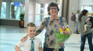 Young boy meets anonymous bone marrow donor