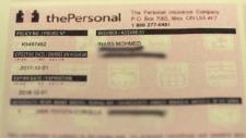 Fake insurance documents
