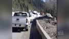 Vehicle swept away by avalanche