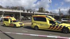 Scene of a shooting in Utrecht, Netherlands
