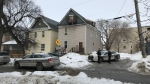 Police are on the scene of a serious incident in the 400 block of Langside Street. CTV photo/Alex Brown