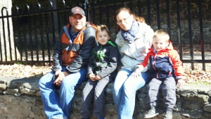 This undated image taken from video shows the Dundas family.
