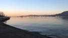 The view from Kitsilano is seen in this image from CTV News Vancouver's Sheila Scott on Monday, March 18.