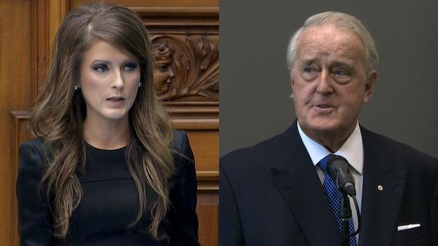 Ontario politician Amanda Simard (left) and former prime minister Brian Mulroney (right).