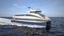 The study discusses using a fast-catamaran passenger-only ferry to shuttle people between the West Shore and downtown Victoria and Esquimalt Harbour.