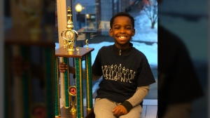 Tanitoluwa Adewumi, who goes by Tani, is riding high after becoming the newly-crowned chess champion for players in kindergarten through to Grade 3 at the New York State Chess Championships. (Russell Makofsky)