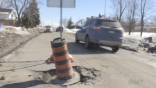 A Sudbury city councillor wants to set up an emergency fund to help people pay for damage caused by potholes. Alana Everson reports.
