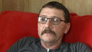 DJ Timmons, 44, from Margaree Centre, N.S., was diagnosed with a genetic disorder called Alpha-1 antitrypsin deficiency in 2006, which has left him unable to work. (CTV Atlantic)