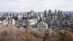 The Montreal skyline as seen from Mount Royal Friday, November 10, 2017 in Montreal. (THE CANADIAN PRESS/Ryan Remiorz)