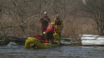Cambridge firefighters water rescue training