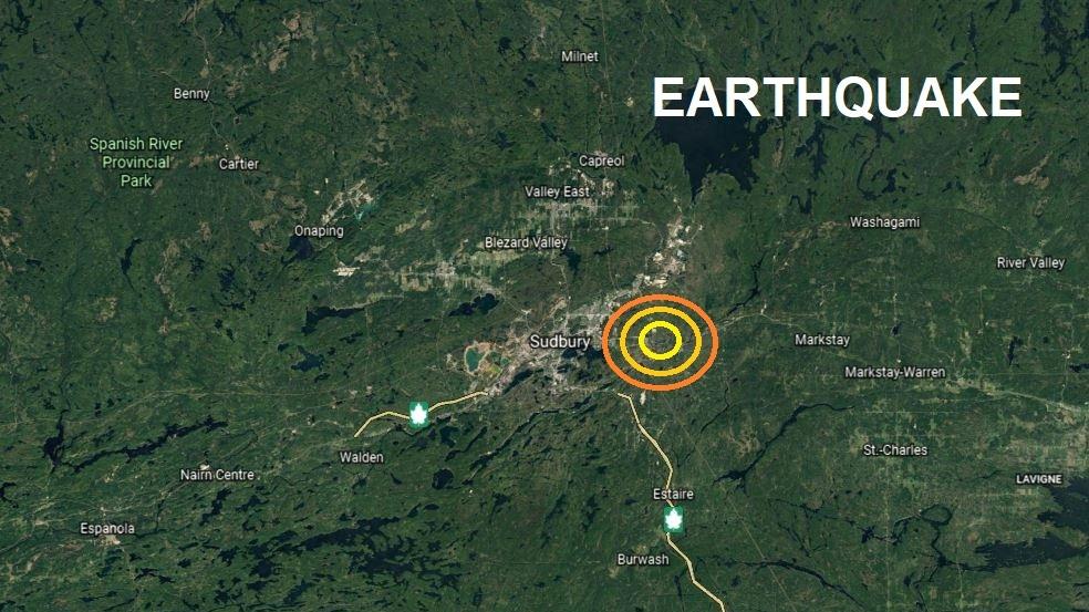 Earthquake confirmed in Sudbury Monday evening