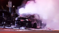 Fiery crash kills driver of Tesla