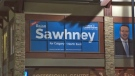 The campaign office of Rajan Sawhney, UCP candidate for Calgary - North East