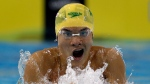 In this Saturday, Dec. 18, 2010 file photo, Kenneth To from Australia swims a Men's 100 meter Individual Medley heat at the FINA Short Course Swimming World Championships in Dubai, United Arab Emirates. (AP Photo/Michael Sohn)