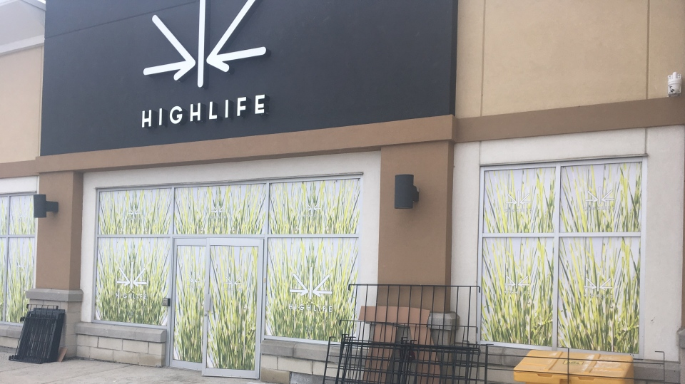 Sudbury's first retail cannabis store, Highlife, in New Sudbury (Alana Everson/CTV Northern Ontario)