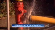 Fire at commercial laundry building