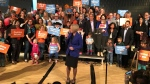 Rachel Notley announces the 2019 Alberta election in Calgary. (MARK VILLANI/CTV CALGARY)