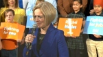 Alberta Premier Rachel Notley announces the provincial election, Tuesday, March 19, 2019.