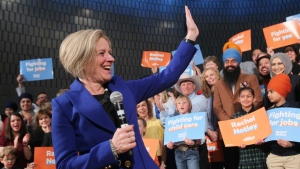 Alberta Premier Rachel Notley makes an announcement in Calgary on Tuesday, March 19, 2019. THE CANADIAN PRESS/Dave Chidley