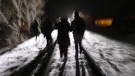 On February 26, 2017, eight migrants cross into Canada from the United States by walking down this train track into the town of Emerson, Man., where they will seek asylum at Canada Border Services Agency. THE CANADIAN PRESS/John Woods
