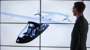 Flying taxis are expected to take to the skies by 2025. (Tolga AKMEN / AFP)