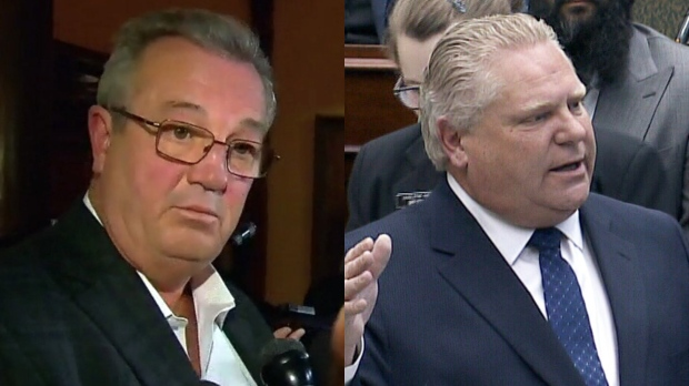Ousted PC MPP Randy Hillier (left) and Premier Doug Ford (right) appear in these file photos.
