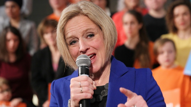 Alberta Premier Rachel Notley makes an announcement in Calgary on Tuesday, March 19, 2019. Alberta Premier Rachel Notley has called an election for April 16. THE CANADIAN PRESS/Dave Chidley