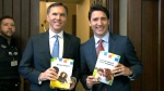 Morneau, Trudeau budget photo