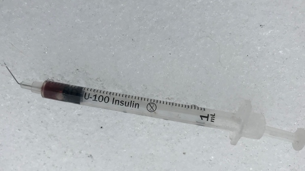 Several needles have been found in the city's West End. (Source: Josh Crabb/CTV News)