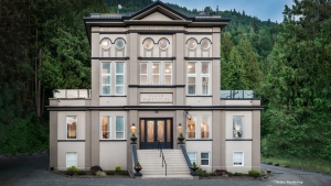 An early 1900s substation-turned-estate in Abbotsford is seen in this image provided by Concierge Auctions.