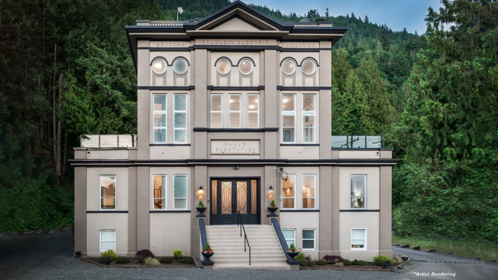 1900s Fraser Valley substation up for auction as luxury home