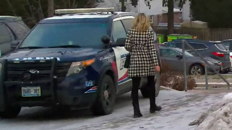 Michelle Hanson leaving court after a previous court appearance. (CTV News).