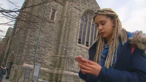 Nadia Blackwood, a student at the University of Toronto, says she struggled in her first year at the school.
