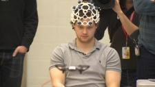 MacEwan University graduate Stephen Doyle flies a drone with his mind in Edmonton.
