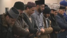 Members of the Muslim community gather for prayers on March 19, 2019.