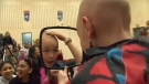 Prairie Waters Elementary School - head shaving